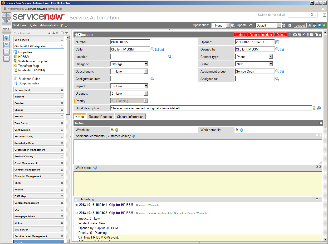AppLink CLIP for OMi for ServiceNow | ITOM Marketplace